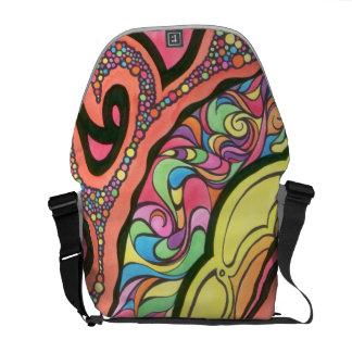 Messenger Bag with Abstract Design
