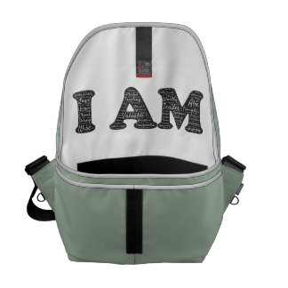 Messenger bag with an important reminder for you!