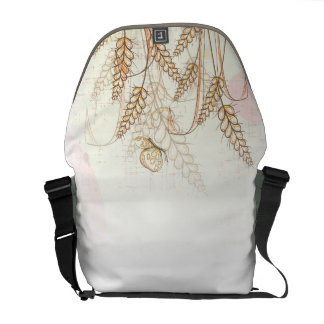 Messenger bag with Butterfly and Flowers