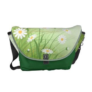 Messenger bag with chamomiles
