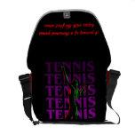 Messenger Bag Women's Tennis 1 Purp. Dark or Light