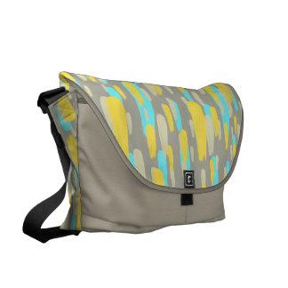 Messenger Bag: Yello, turquoise and stone Messenger Bag