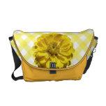 Messenger Bag - Yellow Zinnia on Lattice
