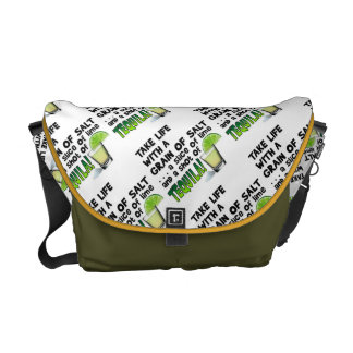 MESSENGER BAGS - LIFE, LIME, SALT, TEQUILA!