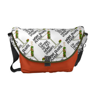 MESSENGER BAGS - More Olives. Eating Veggies!