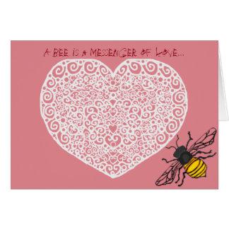 Messenger Bee Valentine Card
