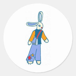 Messenger Bunny Classic Round Sticker