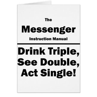 messenger card