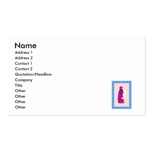 Messenger Double-Sided Standard Business Cards (Pack Of 100)