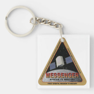 MESSENGER – First Orbital Mission To Mercury Double-Sided Square Acrylic Keychain