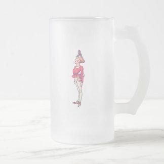 Messenger Hatta Frosted Glass Beer Mug