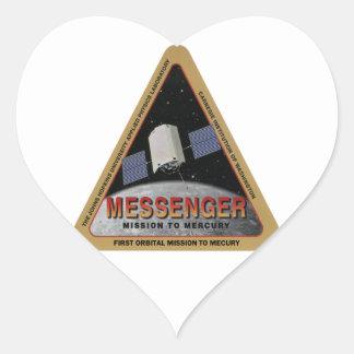 MESSENGER - Orbital Mission To Mars Heart Sticker