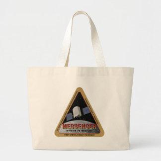 MESSENGER - Orbital Mission To Mars Large Tote Bag