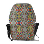 Messenger stock market with geometric drawing courier bag