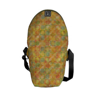 Messenger travel bag with abstract circles courier bags