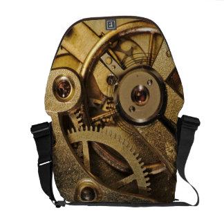 MessengerBag: Brass Hearted. Watch Mechanism Courier Bag