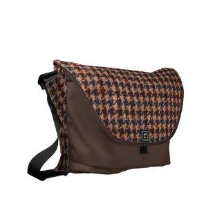 MessengerBag: Brown Tweed Fabric Messenger Bags