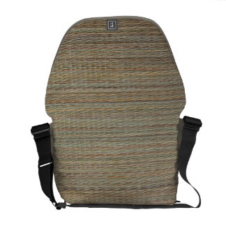 MessengerBag: Straw Mat Courier Bag
