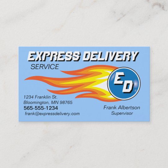 Messengers delivery service fireball business card zazzle messengers delivery service fireball business card reheart Image collections