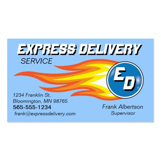 Messengers & Delivery Service Fireball Double-Sided Standard Business Cards (Pack Of 100)