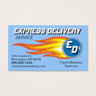 Messengers & Delivery Service Fireball Business Card