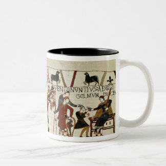 Messengers from Duke William to Guy de Two-Tone Coffee Mug