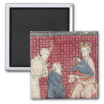 Messengers telling Charlemagne 2 Inch Square Magnet