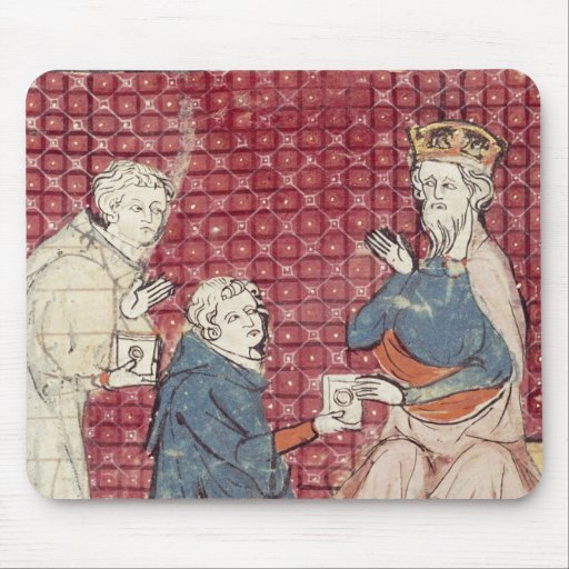 Messengers telling Charlemagne Mouse Pad