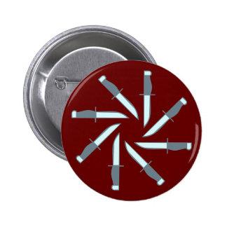 Messer Kreis knives circle Anstecknadelbuttons