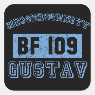 Messerschmitt BF109 Gustav Square Sticker