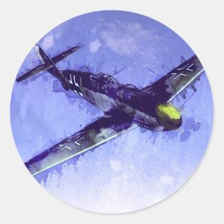 Messerschmitt Bf 109 Classic Round Sticker