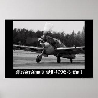 Messerschmitt Bf-109 E-3 Emil Posters