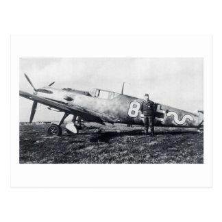 Messerschmitt BF-109 Postcard Cartão Postal