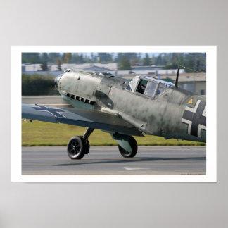 Messerschmitt Bf-109E-3 Emilio Póster