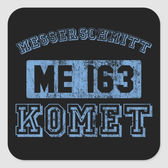 Messerschmitt Komet Square Sticker
