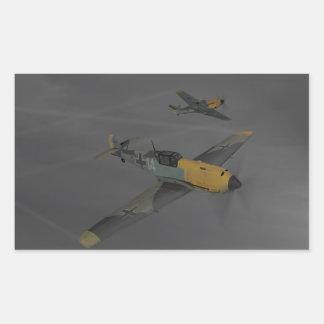 Messerschmitt ME109 Rectangular Sticker