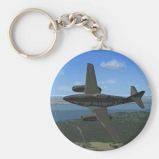 Messerschmitt ME-262 Keychain/Keyring Basic Round Button Keychain