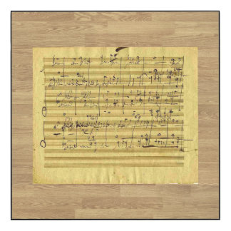 Messiah by Handel Written Out By Beethoven Wood Wall Art