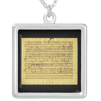 Messiah in Beethoven's Hand Square Pendant Necklace