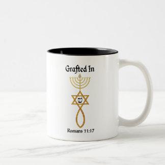 Messianic Grafted In seal w/Sheen Romans 11 17 Two-Tone Coffee Mug