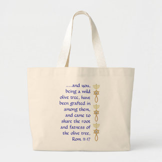 Messianic grafted in seal with sheen tote
