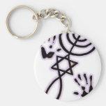 Messianic prints key chain