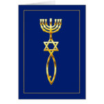 Messianic Seal - blue Card