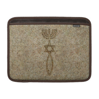 Messianic Seal Stone MacBook Sleeves