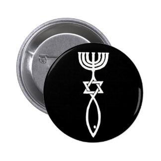 Messianic symbol pinback button