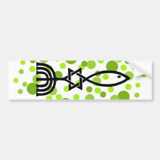 Messianic Symbol With Green Dots Bumper Sticker