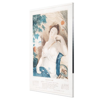 Messidor tenth month of the Republican Canvas Print