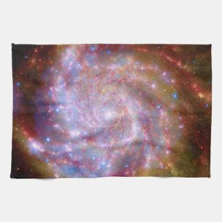 Messier 101 Spiral Galaxy - Hubble Telescope Photo Hand Towel