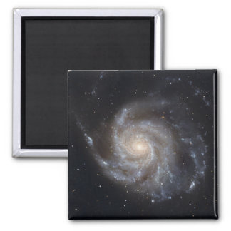 Messier 101, the Pinwheel Galaxy 2 Inch Square Magnet