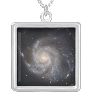 Messier 101, the Pinwheel Galaxy Square Pendant Necklace